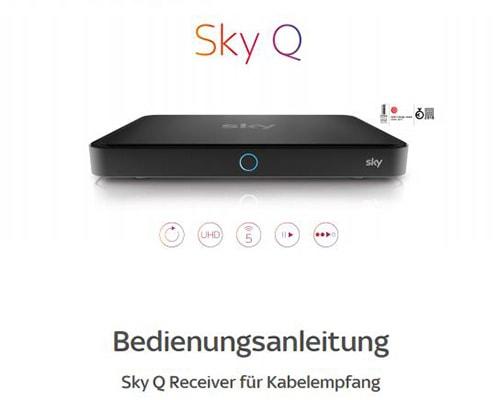 Sky Bedienungsanleitung für Sky+ Pro und Sky Q Receiver