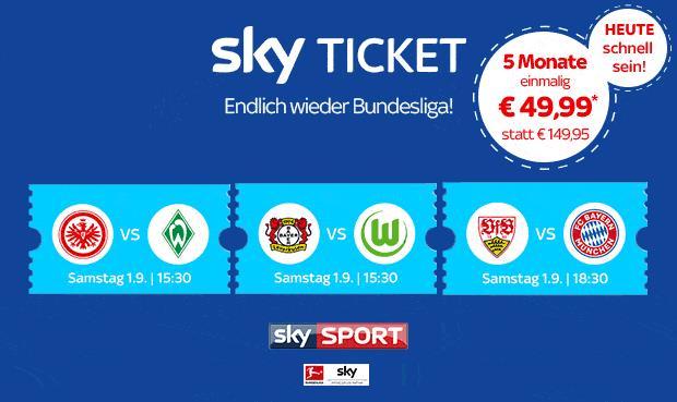 Sky Ticket Angebote nach Kündigung