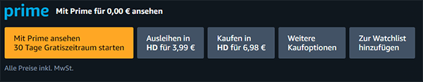 Amazon Prime Video Kosten für Filme und Serien
