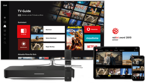 Vodafone GigaTV: Pay-TV Option zubuchbar