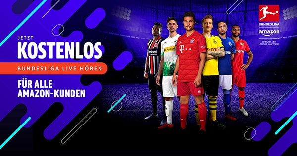 Bundesliga live im Radio bei Amazon Music