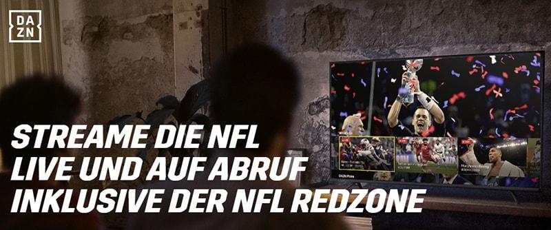 NFL RedZone jeden Sonntag auf DAZN