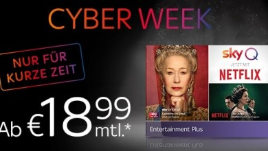 Photo of Sky Cyber Week Special Angebot ab 18,99 €