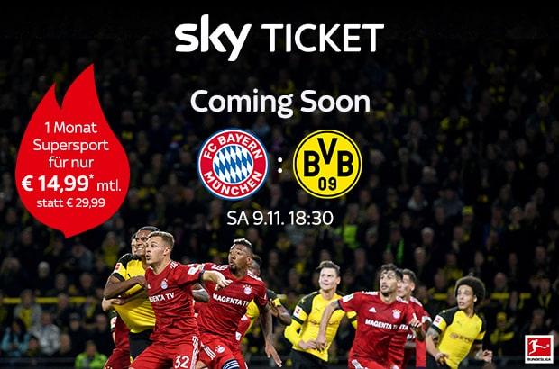 Sky Ticket Angebot für Bestandskunden im November 2019