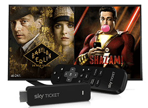 Sky Ticket Angebot inkl. gratis TV Stick