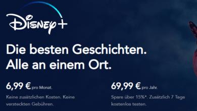 Photo of Disney+ Jahresabo: 7 Tage kostenlos testen (15% sparen)