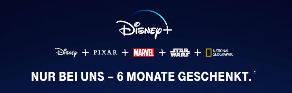 Telekom Disney+ Option: 6 Monate kostenlos testen (41,94 € sparen)